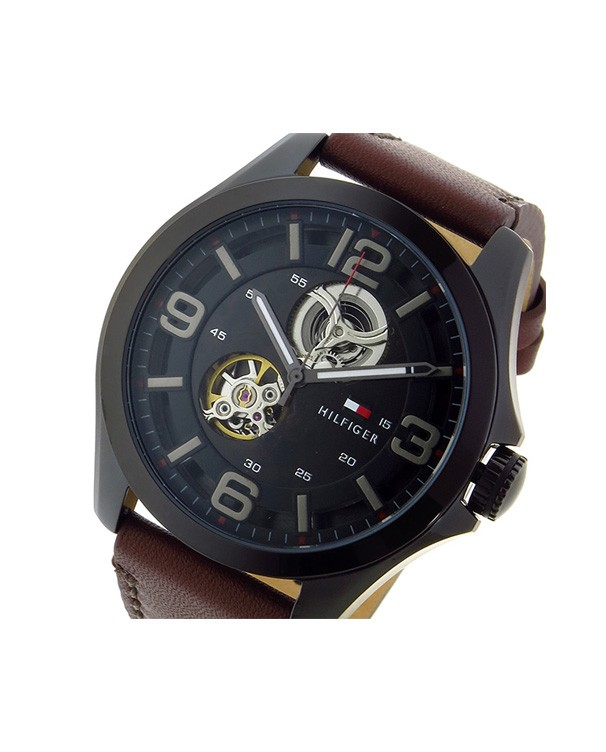 TOMMY HILFIGER Bruce Mechanical Automatic Black Dial Men's Watch