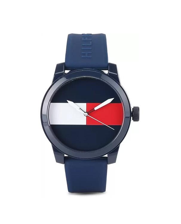 TOMMY HILFIGER  Blue Quartz Silicone Denim Men's Watch
