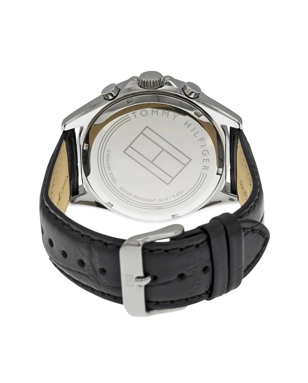 Tommy Hilfiger Luke Multifunction Stainless Steel Case with Leather Strap Men's Watch