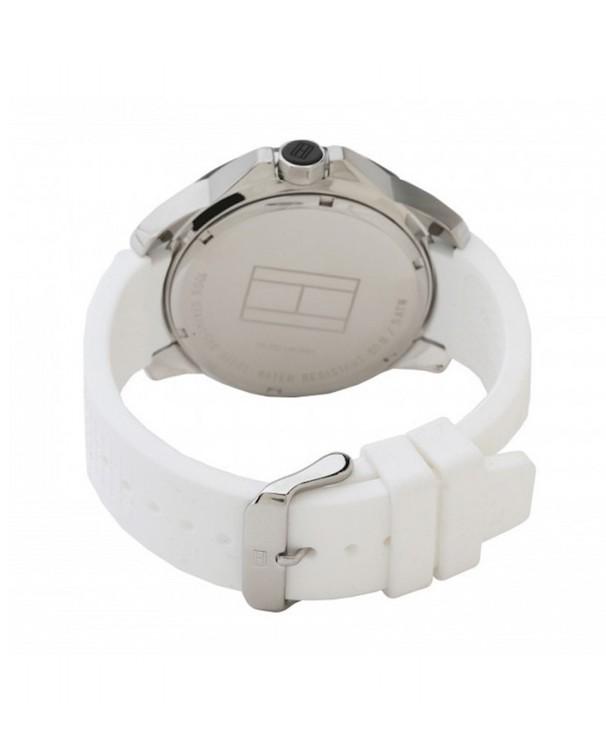 Tommy Hilfiger Cole Quartz Black Dial with Silicone White Strap Men's Watch