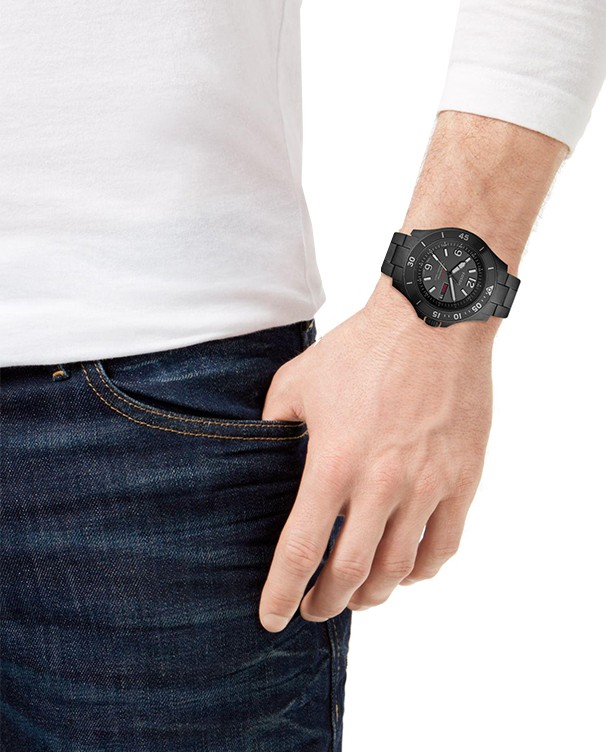 Fossil FB-02 Diver with Stainless Steel IP Black Bracelet Men's Watch
